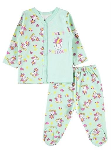 Kujju Kujju Kız Bebek Pijama Takımı 3-6 Ay Sarı Kujju Kız Bebek Pijama Takımı 3-6 Ay Sarı Yeşil